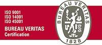 Logotipo ISO9001, IS014001 e ISO45001