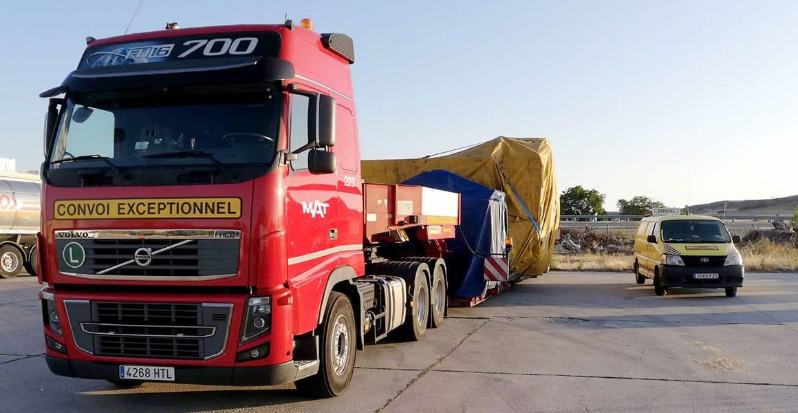 Transporte de mercancías especiales en Madrid