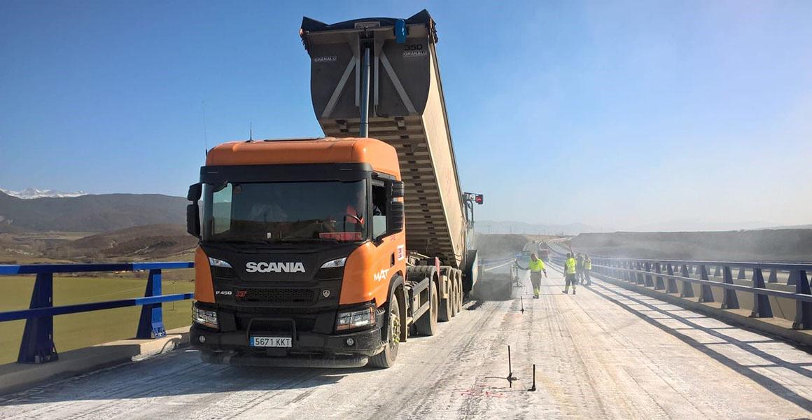 Transporte de material de construcción en Madrid