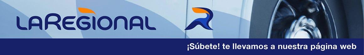 Banner La Regional invitando al público a acceder a su página web