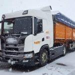 Camión Grupo MAT para Transporte de Graneles en la nieve