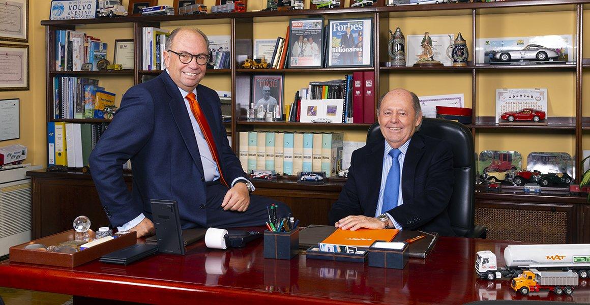 Manuel Aguado Burgaz y Avelino Traba Aguado, Consejeros Delegados de MAT